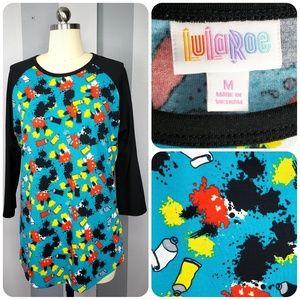 LuLaRoe M DISNEY RANDY Mickey Paint Splatter